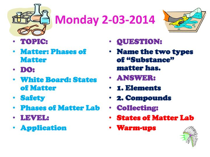 Monday 2-03-2014