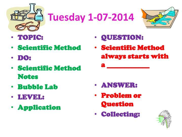 Tuesday 1-07-2014