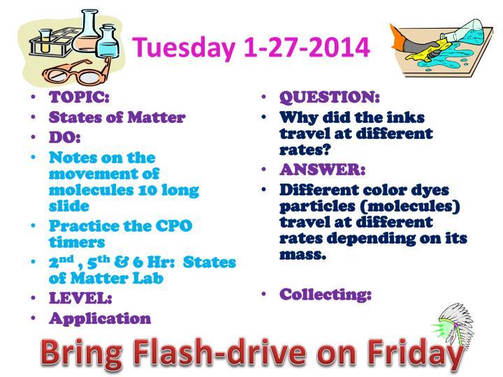 Tuesday 1-27-2014