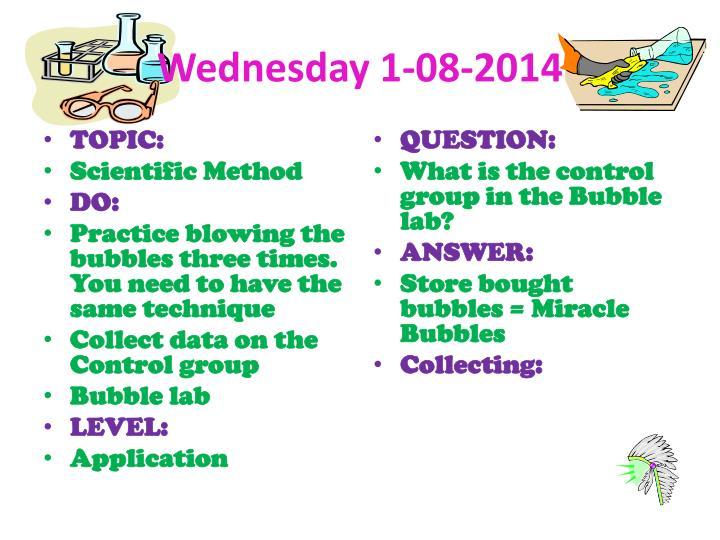 Wednesday 1-08-2014