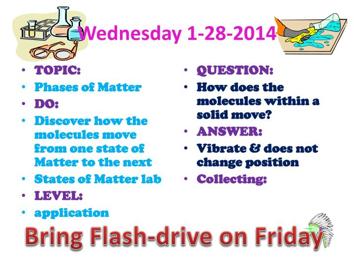 Wednesday 1-28-2014