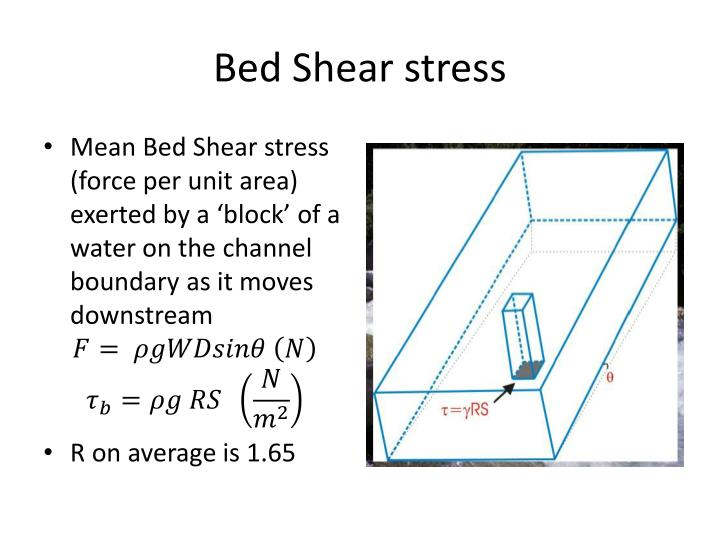 bed shear stress