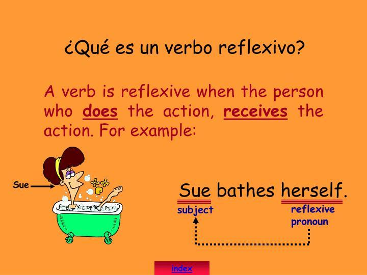 ¿Qué es un verbo reflexivo?