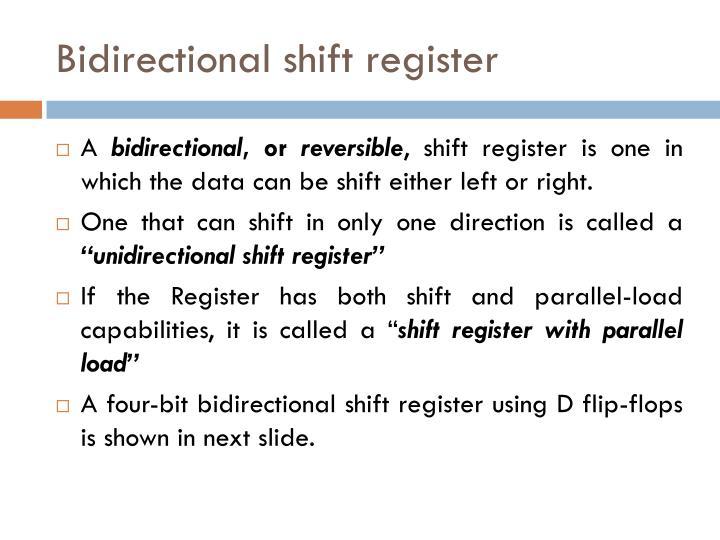 Bidirectional shift register