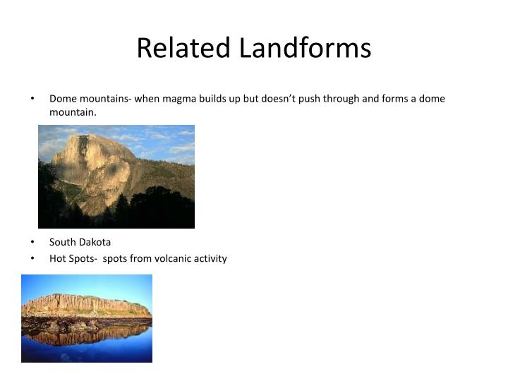 Related Landforms