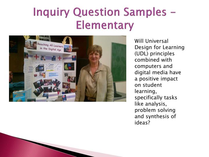 Inquiry Question Samples - Elementary