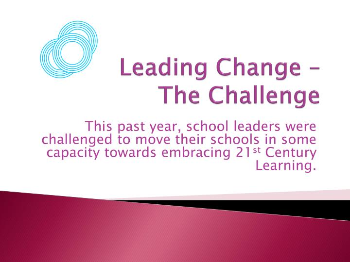 Leading change the challenge