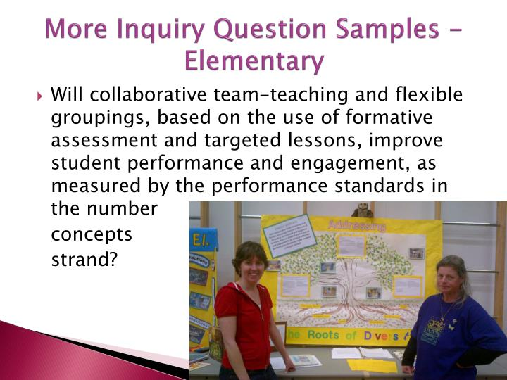 More Inquiry Question Samples - Elementary