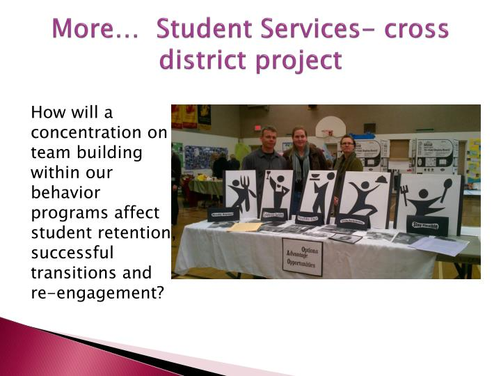 More…  Student Services- cross district project