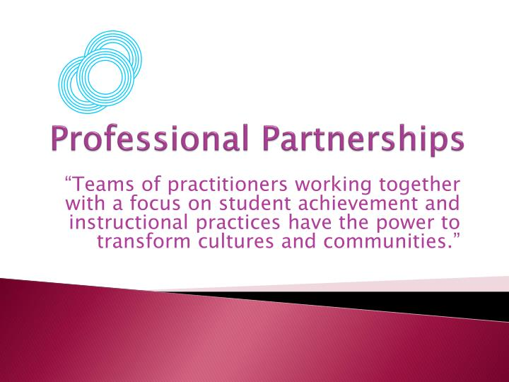 Professional Partnerships