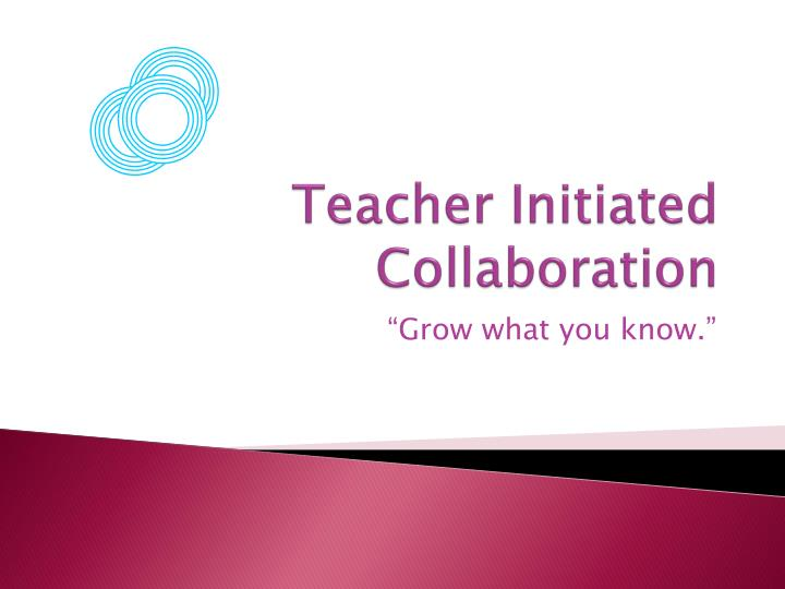 Teacher Initiated Collaboration