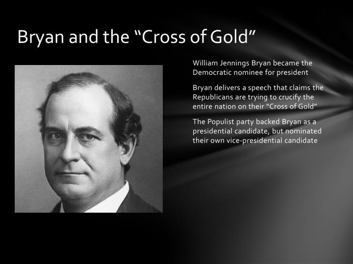 """Bryan and the """"Cross of Gold"""""""