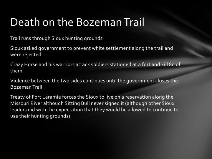 Death on the Bozeman Trail