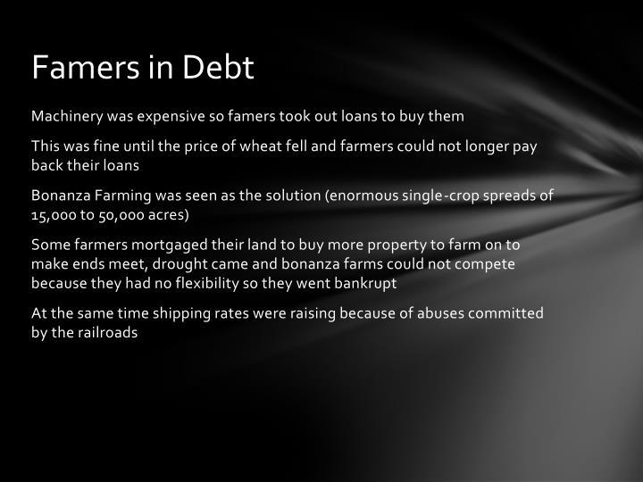 Famers in Debt