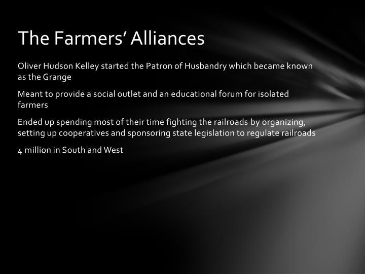 The Farmers' Alliances