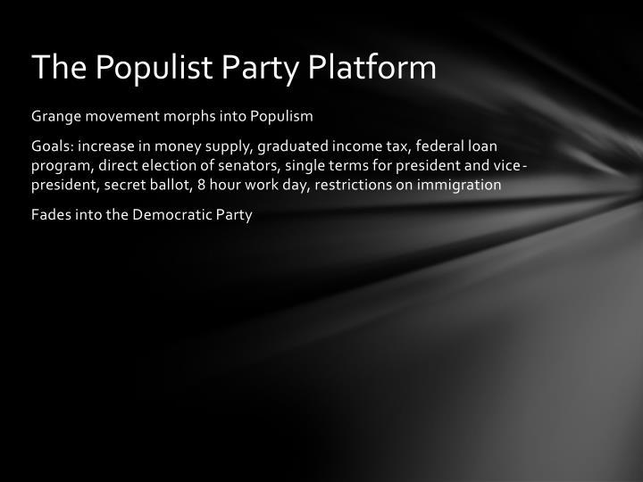 The Populist Party Platform