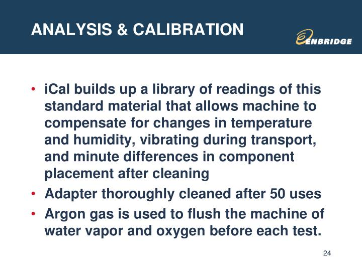 ANALYSIS & CALIBRATION