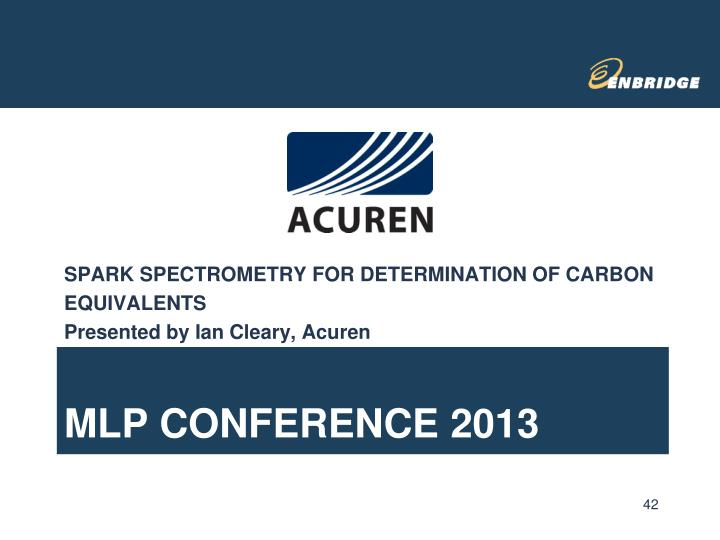 SPARK SPECTROMETRY FOR DETERMINATION OF CARBON