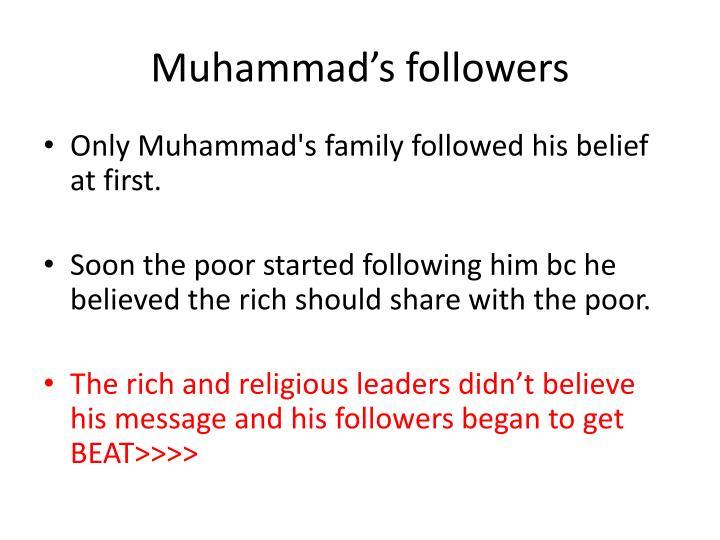 Muhammad's followers