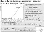 quantifying shear measurement accuracy from a power spectrum1