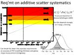 req mt on additive scatter systematics