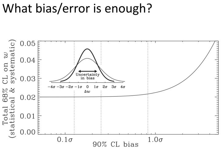 What bias/error is enough?