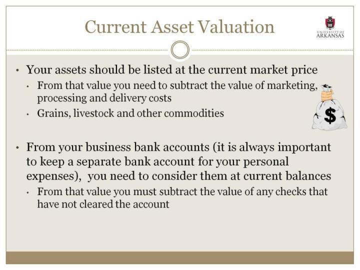 Current Asset Valuation