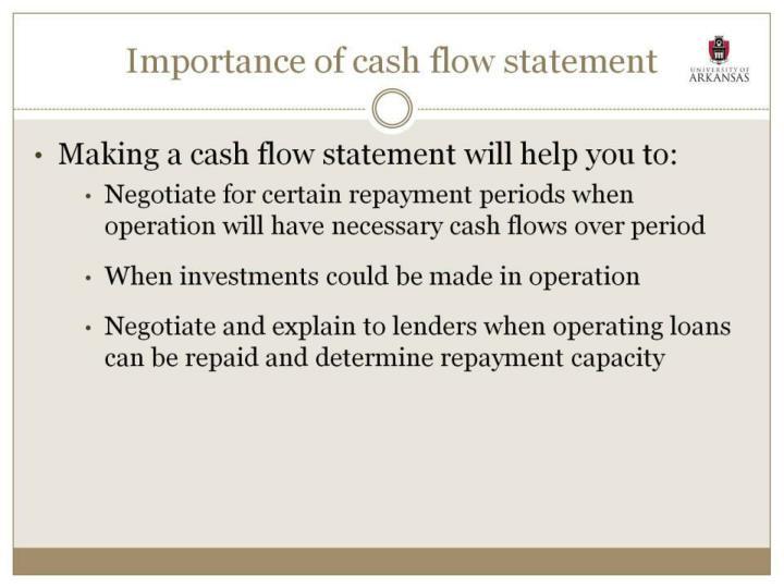 Importance of cash flow statement