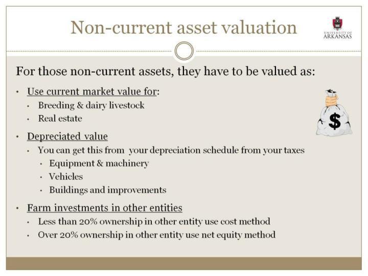 Non-current asset valuation