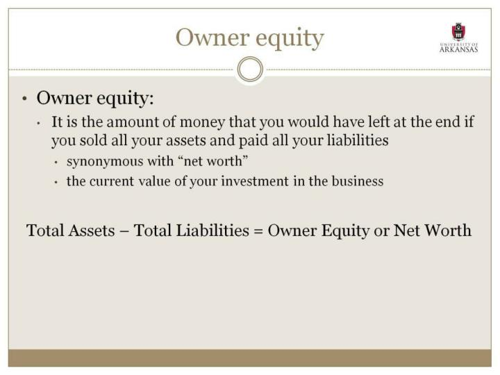 Owner equity