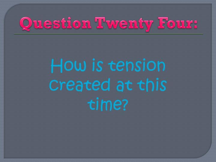 Question Twenty Four: