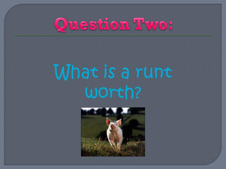Question Two: