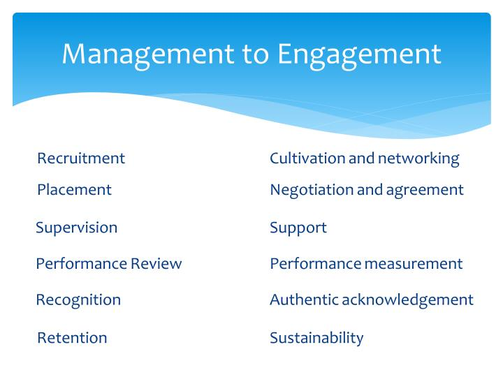 Management to Engagement
