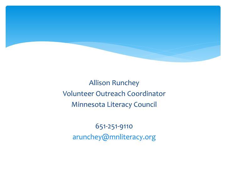 Allison Runchey