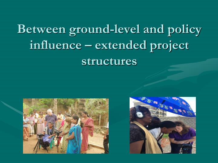 Between ground-level and policy influence – extended project structures
