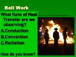 bell work5
