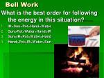 bell work6