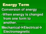 energy term