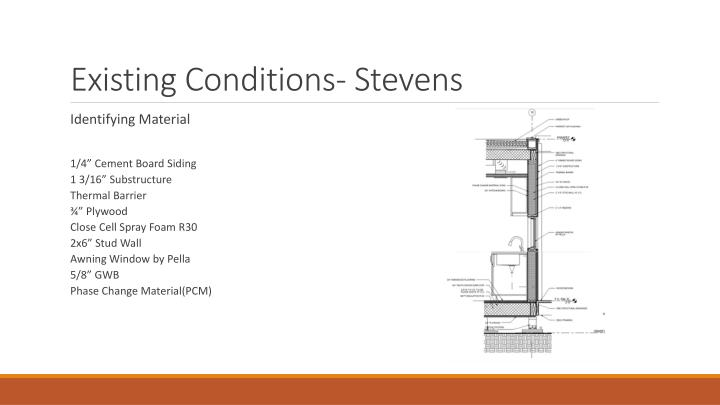 Existing Conditions- Stevens