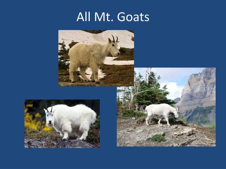 All Mt. Goats