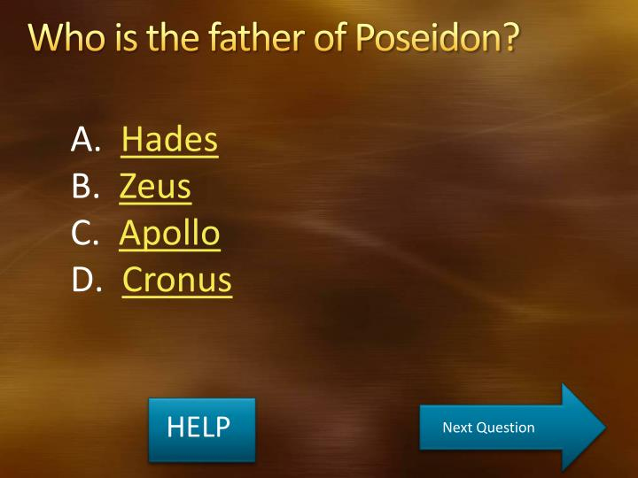 Who is the father of Poseidon?