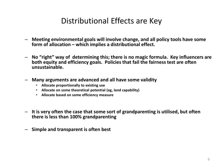 Distributional Effects are Key