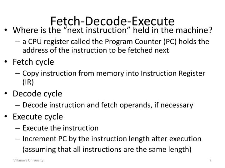 Fetch-Decode-Execute