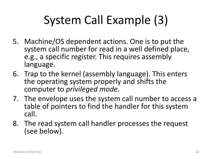 System Call Example (3)