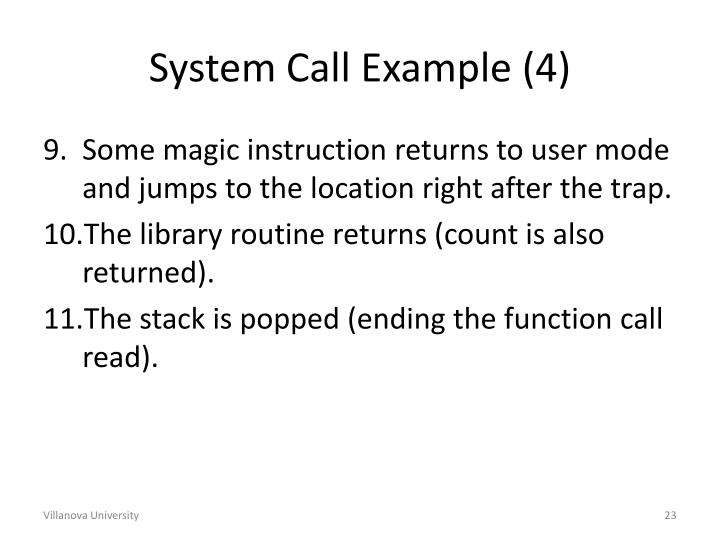 System Call Example (4)