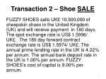 transaction 2 shoe sale