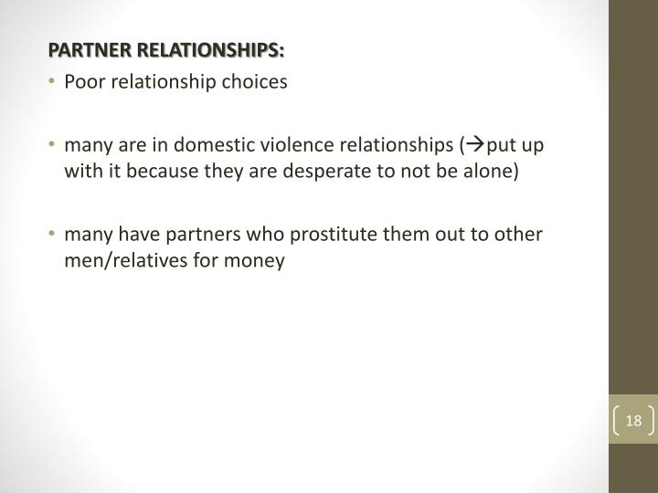 PARTNER RELATIONSHIPS