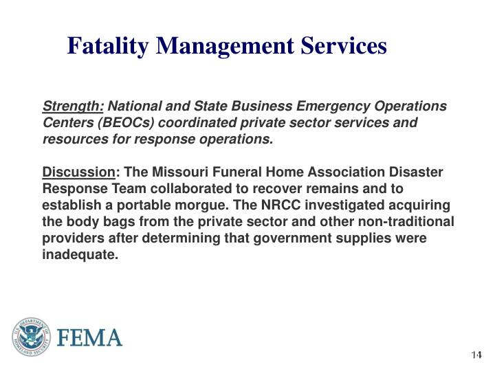 Fatality Management Services