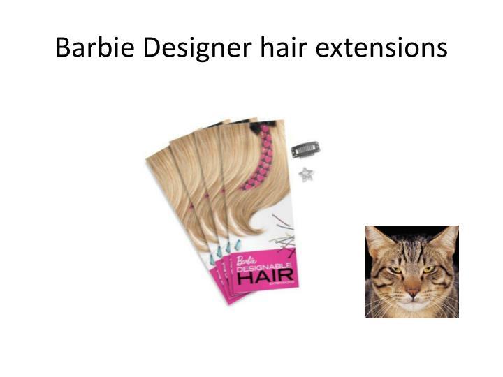 Barbie Designer hair extensions