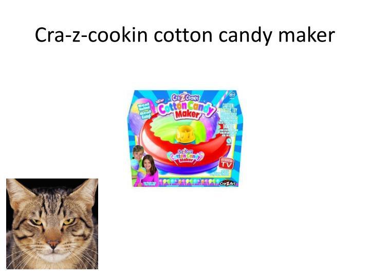 Cra-z-cookin cotton candy maker